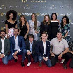 Los concursantes de 'MasterChef 6' en la inauguración del restaurante del programa en Madrid