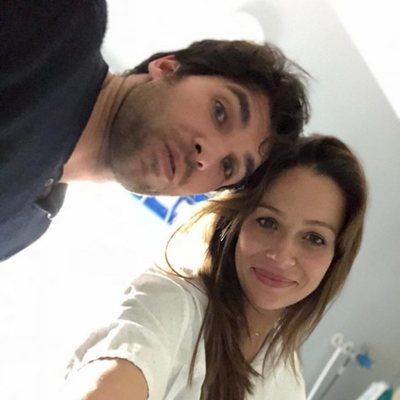 Eva González con Cayetano Rivera el día que dio a luz