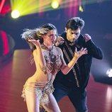 David Bustamante y Yana Olina bailando en su tercera actuación de 'Bailando con las estrellas'