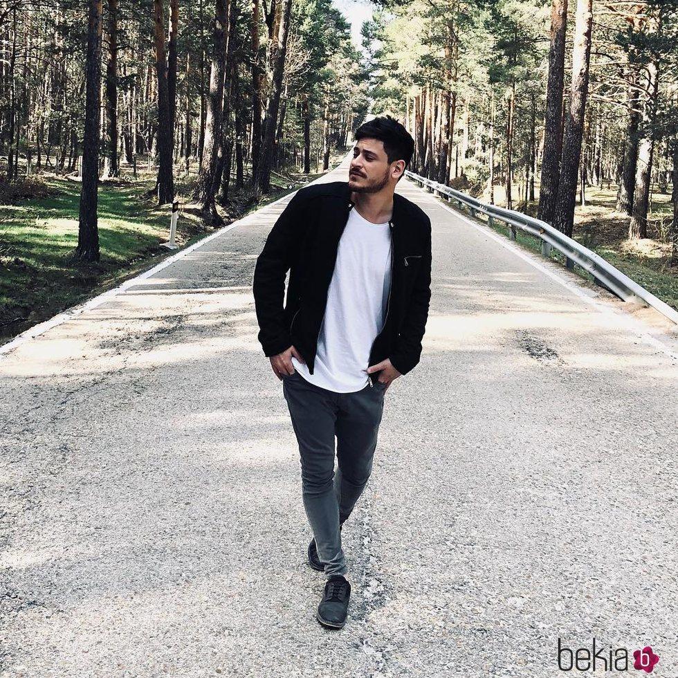 Cepeda durante la grabación del videoclip de su primer single 'Esta vez'
