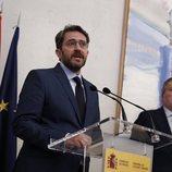 Màxim Huerta durante su primer discurso como Ministro de Cultura y Deportes