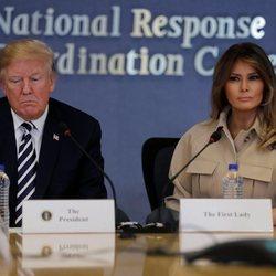 Donal y Melania Trump en un acto oficial el pasado miércoles 6 de junio