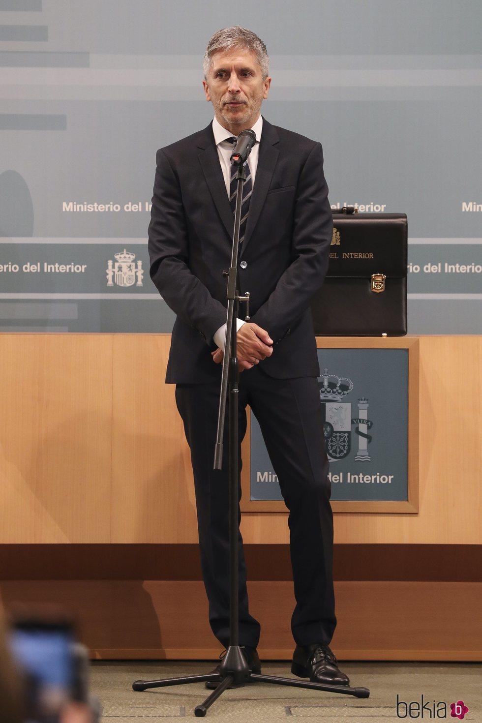 Fernando Grande-Marlaska tras recibir la cartera de Ministro del Interior
