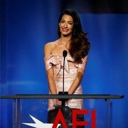 Amal Alamuddin dedicándole unas bonitas palabras a George Clooney tras ganar el Premio AFI 2018