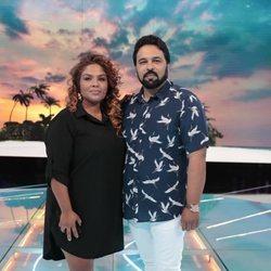 Saray Montoya y su marido Jorge en la gala 13 de 'Supervivientes 2018'