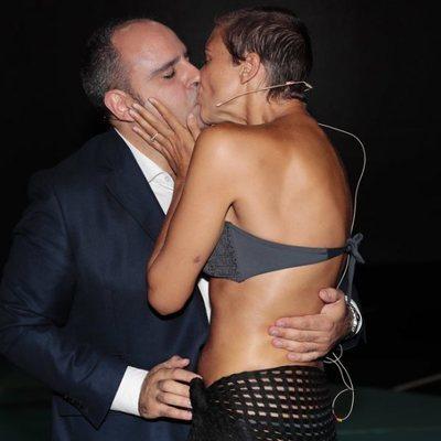 María Jesús Ruiz besa apasionadamente a Julio Ruz en la gala 13 de 'Supervivientes 2018'