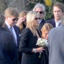 Los reyes Máxima y Guillermo Alejandro de Holanda, en el funeral de Inés Zorreguieta