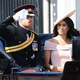 El Príncipe Harry y Meghan Markle en el Trooping The Colour 2018