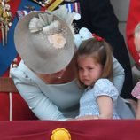 La Princesa Carlota de Cambridge enfadada en el Trooping The Colour 2018
