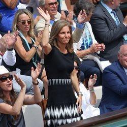 Arantxa Sánchez Vicario en la final femenina de Roland Garros 2018
