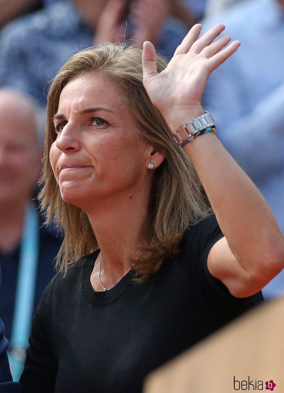 Arantxa Sánchez Vicario acude a la final femenina de Roland Garros 2018