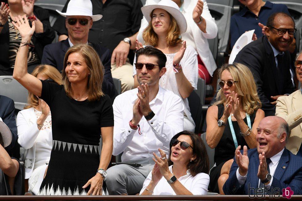 Arantxa Sánchez Vicario reaparece públicamente en Roland Garros