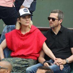 Marion Cotillard y Guillaume Canet en la final del Roland Garros 2018