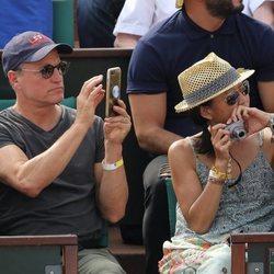 Woody Harrelson en la final del Roland Garros 2018