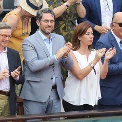 Màxim Huerta aplaude durante la final del Roland Garros 2018