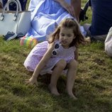 La Princesa Carlota en un torneo de polo