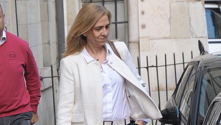 Primera imagen de la Infanta Cristina tras conocerse la sentencia del Supremo sobre Iñaki Urdangarin