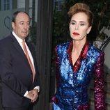 El Chatarrero y Ágatha Ruiz de la Prada llegando a la entrega del Premio Internacional de Periodismo de Vanity Fair