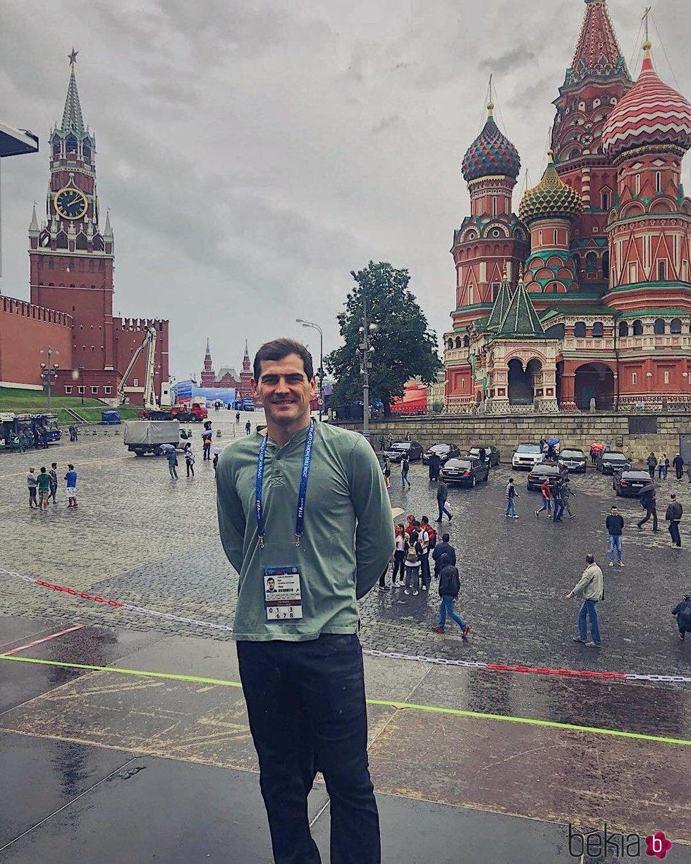 Iker Casillas en la Plaza Roja de Moscú