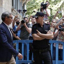 Diego Torres sale de la Audiencia de Palma tras recibir el mandamiento de prisión