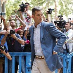Iñaki Urdangarin llega a la Audiencia de Palma para recoger el mandamiento de su entrada en prisión