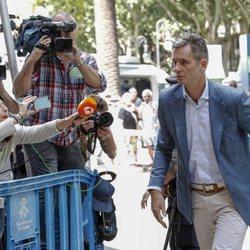 Iñaki Urdangarin a su llegada a la Audiencia de Palma para recibir la notificación de su ingreso en prisión