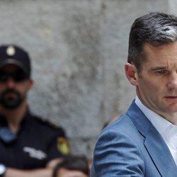 Iñaki Urdangarin, triste tras recibir la orden de ingreso en prisión