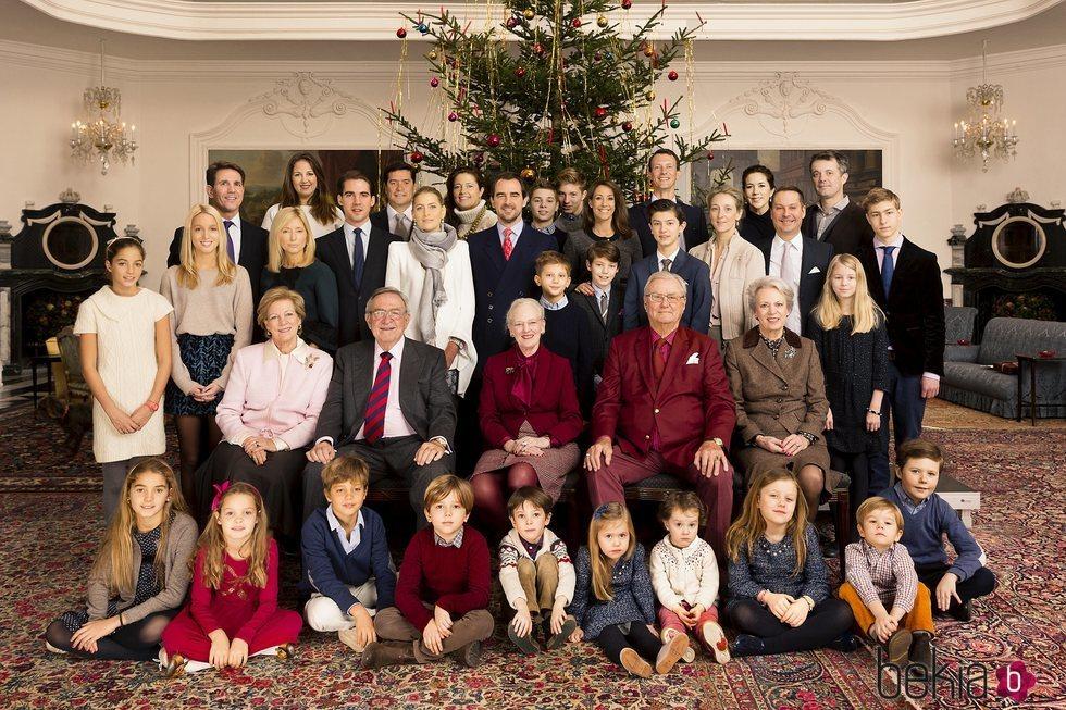 La Familia Real Danesa y la Familia Real Griega celebrando la Navidad