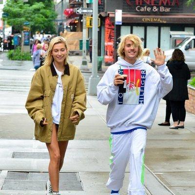 Justin Bieber y Hailey Baldwin pillados en el centro de Nueva York