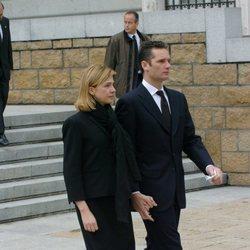 La Infanta Cristina e Iñaki Urdangarin en el funeral por las víctimas del 11M