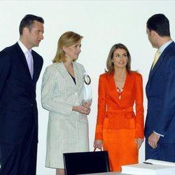 Los Reyes Felipe y Letizia, la Infanta Cristina e Iñaki Urdangarin
