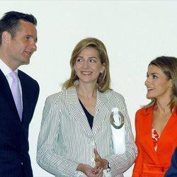 La Reina Letizia, la Infanta Cristina e Iñaki Urdangarin en Barcelona