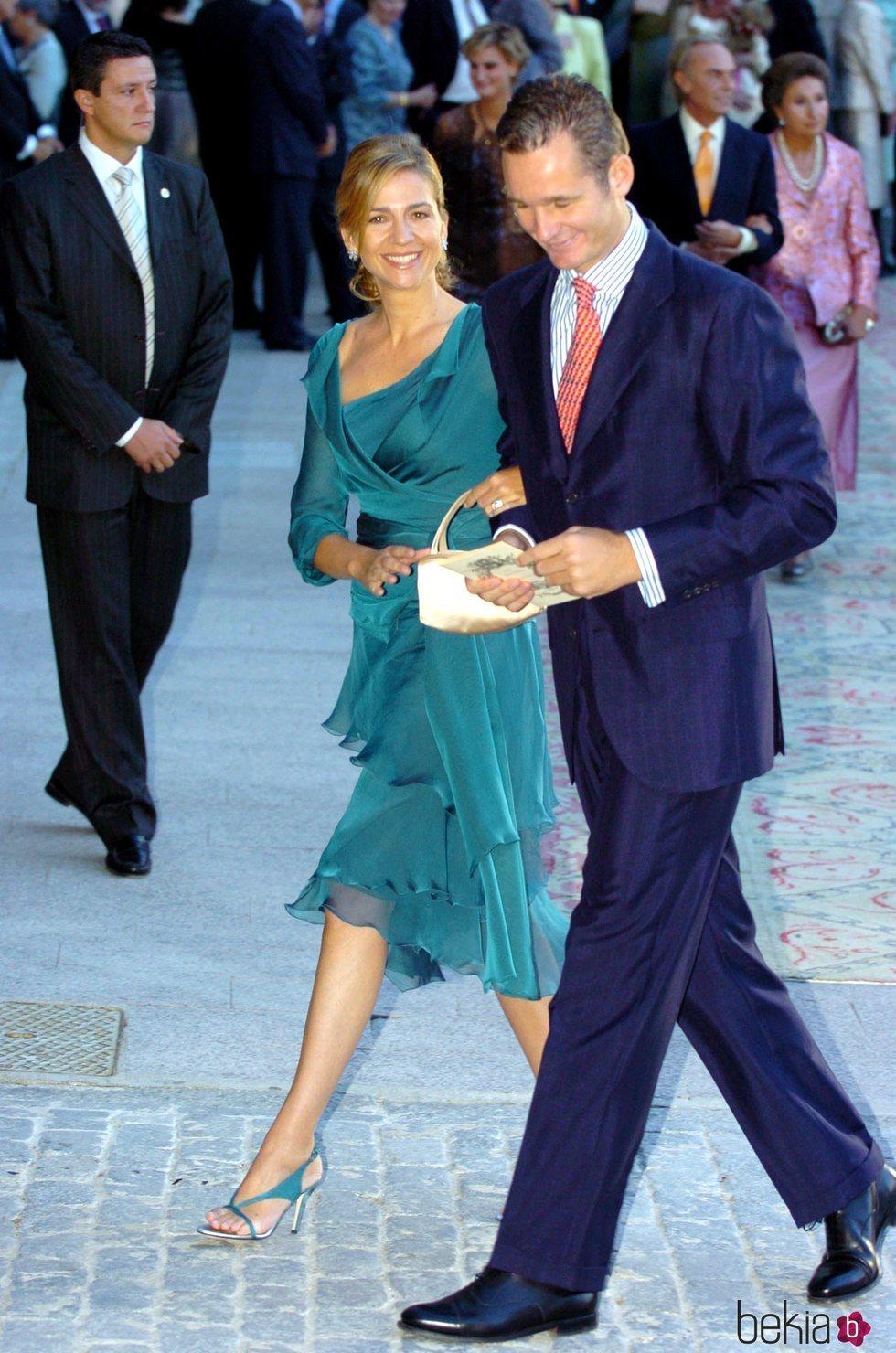 La Infanta Cristina e Iñaki Urdangarin en la boda de Beltrán Gómez-Acebo y Laura Ponte