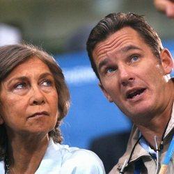 La Reina Sofía e Iñaki Urdangarin en los Juegos Olímpicos de Atenas 2004