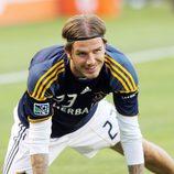 David Beckham con una Power Balance durante un partido