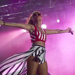 Rihanna en una actuación del 'Rock in Rio Brasil 2011'
