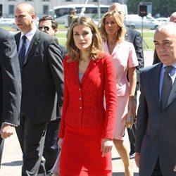 La Princesa Letizia durante su visita oficial a Chile