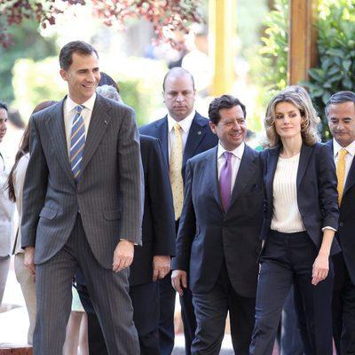 Los Príncipes de Asturias se reúnen con la colonia de españoles en Chile