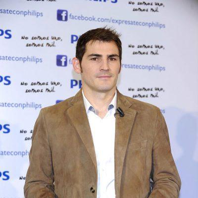 Iker Casillas en la presentación de la campaña navideña de Phillips