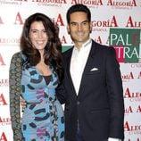 Eugenia Santana y su marido José Farias en el 24 aniversario del Club Palestra