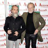 Gonzalo de Castro y Lluis Homar en el 24 aniversario del Club Palestra