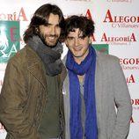 Aitor Luna y su hermano Yon González en el 24 aniversario del Club Palestra