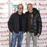 Roberto Alvárez y Jordi Rebellón en el 24 aniversario del Club Palestra