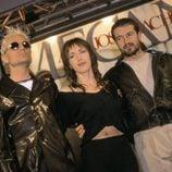 Ana Torroja, Nacho Cano y José María Cano en un concierto de Mecano