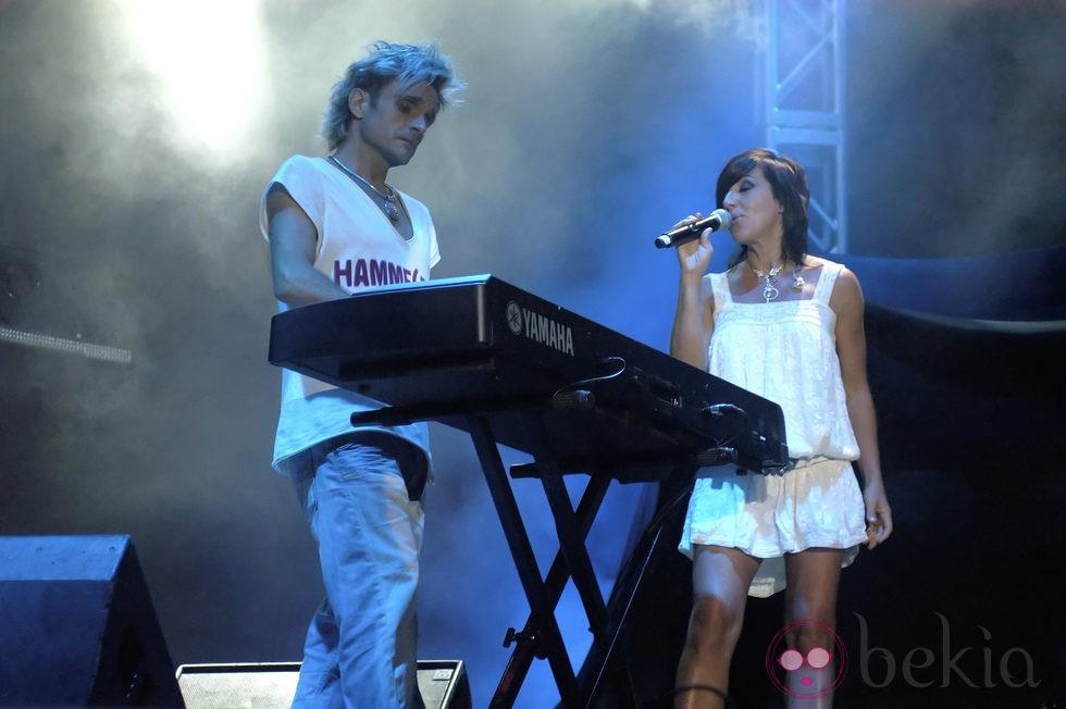 Nacho Cano y Ana Torroja durante uno de los conciertos de Mecano