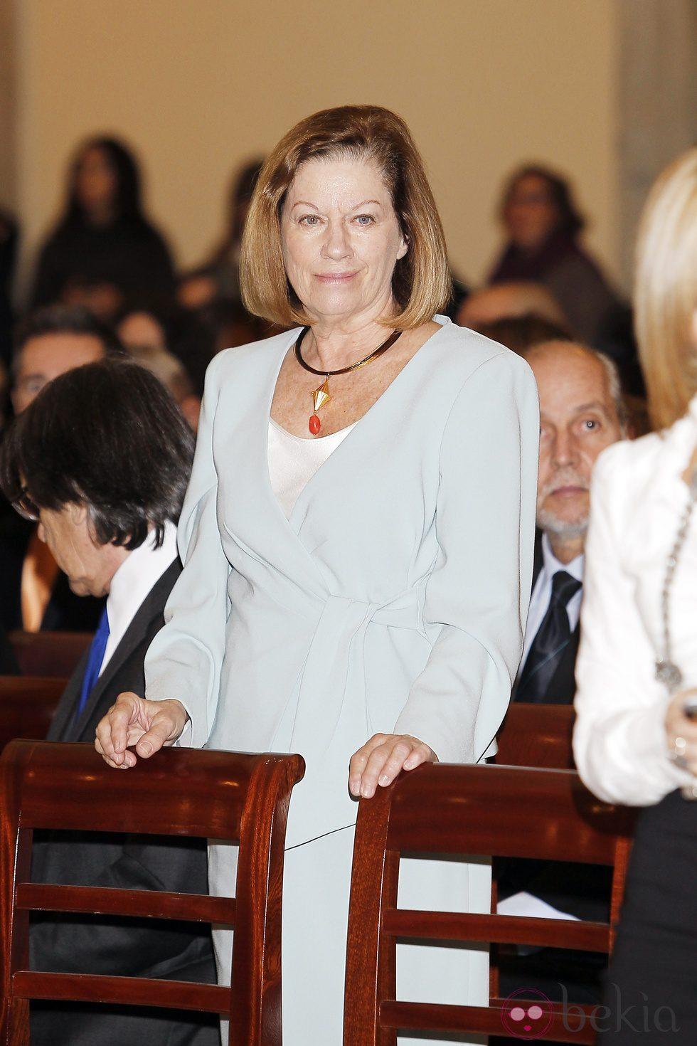 Natalia Figueroa en la entrega de las Medallas de Oro en las Bellas Artes 2010