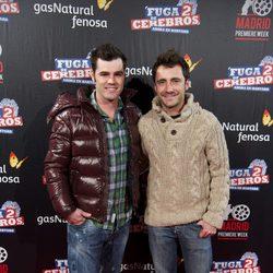 Fonsi Nieto y Pablo Nieto en el estreno de 'Fuga de cerebros 2' en la 'Madrid Premiere Week'