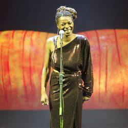 Concha Buika actuando en la gala Help