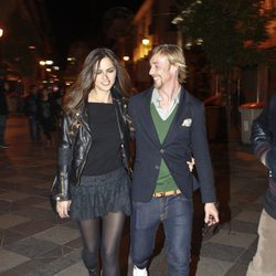 Guti y Romina Belluscio en un concierto de música en Madrid