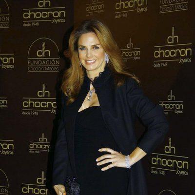 Genoveva Casanova en la presentación del nuevo catálogo de Chocrón